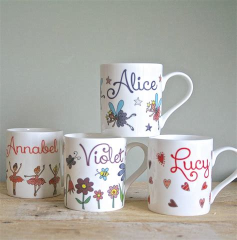 personalised mug for girls by sparkle ceramics