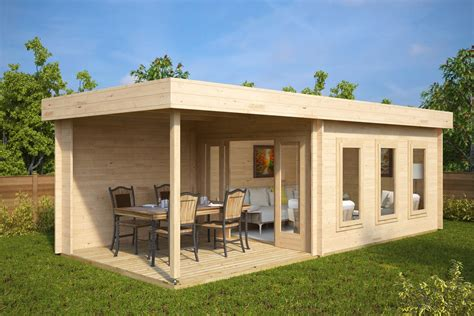 terrasse 6 x 5 contemporary garden summer house with veranda jacob e 12m 178
