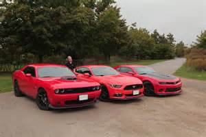 Dodge Vs Ford Vs Chevy 2015 Ford Mustang Vs 2015 Chevy Camaro Ss Vs 2015 Dodge