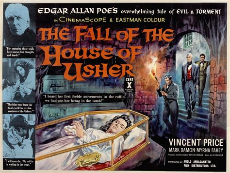 house of usher movie the fall of the house of usher horror b movie posters