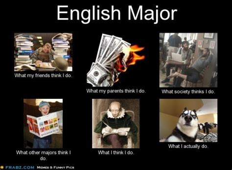 English Major Meme - wordless wednesday english major memes hardcovers and