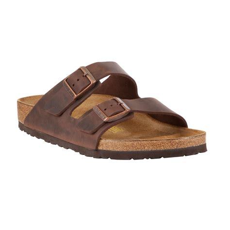 birkenstock boots mens birkenstock arizona mens sandals in brown for lyst