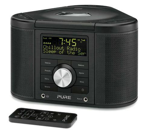 pure chronos cd series  dab fm alarm clock radio cd