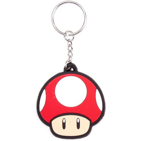 Mario Comes To With Keyrings And Swaying Mushrooms by Nintendo Mario Bros Keychain