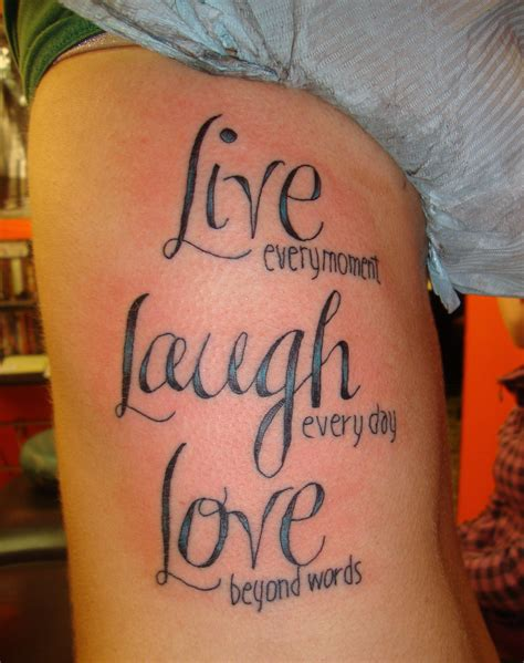 live life tattoo designs live laugh tattoos designs ideas and meaning