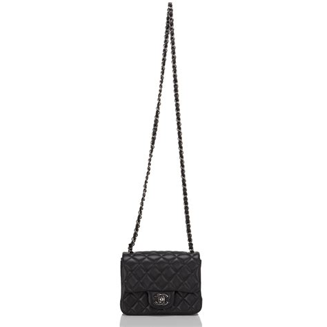 Square Mini chanel black quilted lambskin square mini classic flap bag world s best