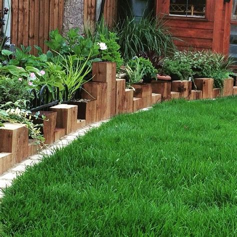 Timber Garden Edging Ideas 28 Best Gardens With Railway Sleepers Images On