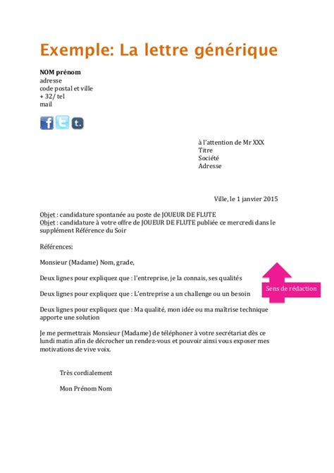 Exemple De Lettre De Motivation ã Tã Exemple Lettre A L Attention De