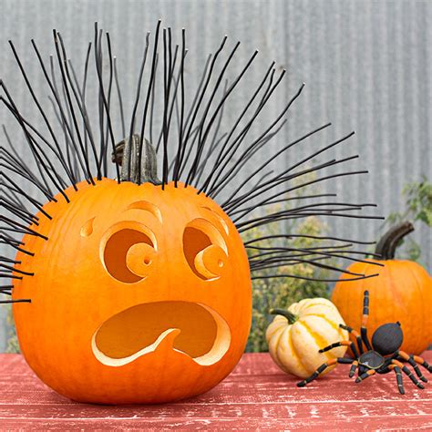 hair raising pumpkin gourds and spider hair raising experience strands of black electrical