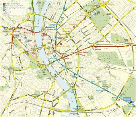 hungary map maps update 1200875 budapest tourist map 15 toprated