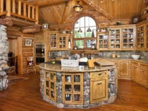 Log Cabin Kitchen Designs Build A Log Home And Make A Dream Kitchen Home Design