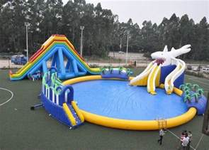 Backyard Blow Up Pools Entertainment Blow Up Games Ultimate Inflatable Water Park