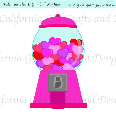 gumball machine valentines hearts gumball machine clipart by