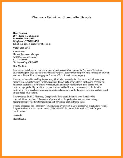 Traveling Pharmacist Cover Letter by 6 Exle Of Industrial Application Letter Mystock Clerk