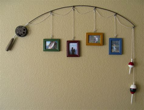 Home Interiors And Gifts Candles by Fishing Pole Picture Frame Metal Brown 4 Frames