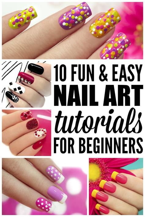 10 easy nail tutorials for beginners