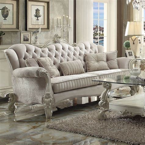 acme versailles living room set in ivory for from 3 654