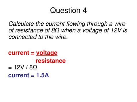 find current flowing through resistor ppt edexcel igcse certificate in physics 2 4 electrical resistance powerpoint presentation