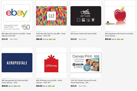 Where To Buy Guitar Center Gift Cards - gift cards up to 20 off ebay gap applebees jcpenney aeropostale guitar center