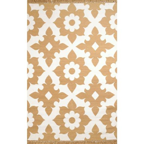 Fleur De Lis Outdoor Rug Fleur De Lis Yellow 8 Ft X 10 Ft Indoor Outdoor Area Rug 93245 The Home Depot