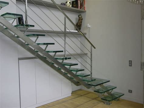 Stainless Steel Stairs Design Charming Stainless Steel Handrail With Glass Stairs Step And Cool Wall Mount Shelves Side Stair