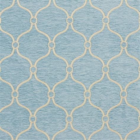 Moroccan Upholstery Fabric by Aqua And Light Blue Moroccan Design Chenille Upholstery Fabric