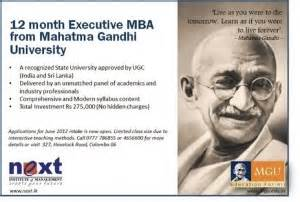 Cheapest Executive Mba In India by Executive Mba From Mahatma Gandhi Intake For