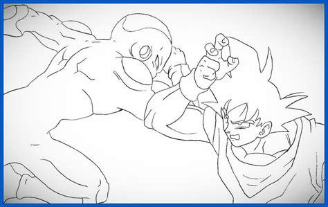 imagenes de goku y freezer dibujos de dragon ball z para colorear a goku archivos