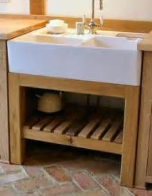 Stand Alone Kitchen Sinks Freestanding Oak Sink Unit Media Room Study And Bathroom
