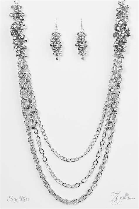 The Shelley Zi Signature Silver Necklace | Paparazzi