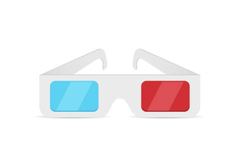 How To Make 3d Glasses With Paper - paper 3d glasses free vector superawesomevectors