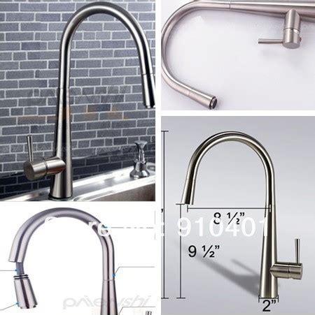 solid brass pull down kitchen faucet nickel brushed new contemporary luxury kitchen faucet pull down swivel