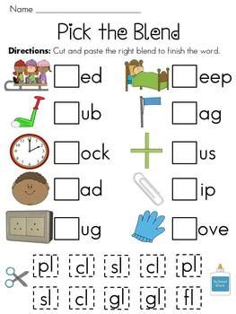 Blending Sounds Worksheets For Grade by L Blends Worksheets Pack By Miss Giraffe Teachers Pay