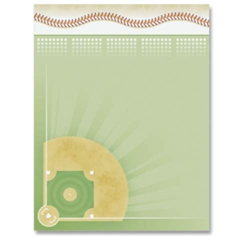 printable baseball stationery paper baseball diamond border papers paperdirect