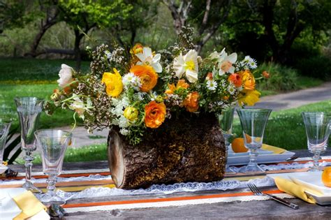 Home Flower by Log Center Ev Floral Design