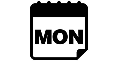 More On Monday The In White By Wilkie Collins by Monday Calendar Page Free Interface Icons