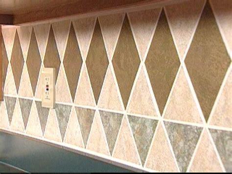Washable Wallpaper For Kitchen Backsplash install a tile wallpaper backsplash hgtv