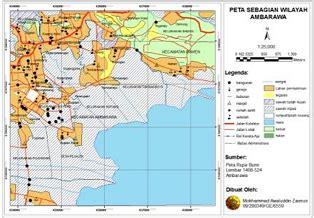 layout peta geomorfologi praktikum sistem informasi geografis sig dasar