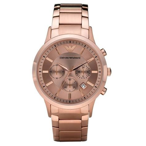 buy emporio armani gold chronograph for
