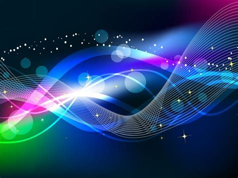 abstract wave color light background vector free vector