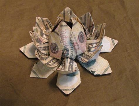 Money Flower Origami - money origami lotus flower