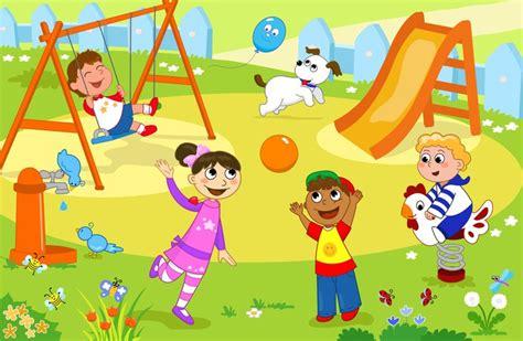 si鑒e kiddy fototapeta grupa dzieci bawiące się na placu zabaw