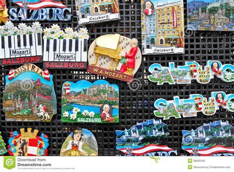 Magnet Jam Austria Souvenirs souvenir magnets in salzburg editorial photography image 38635342