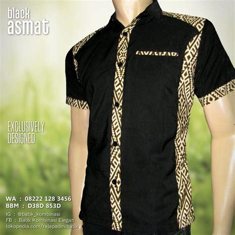 desain kemeja batik kombinasi batik pria seragam batik baju batik modern ex 029