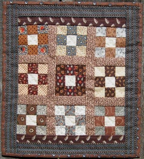 Patch Quilt by The Humble Stitcher Nine Patch Doll Quilt
