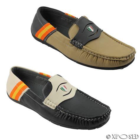 designer mens slippers uk mens faux leather smart casual designer style slip on