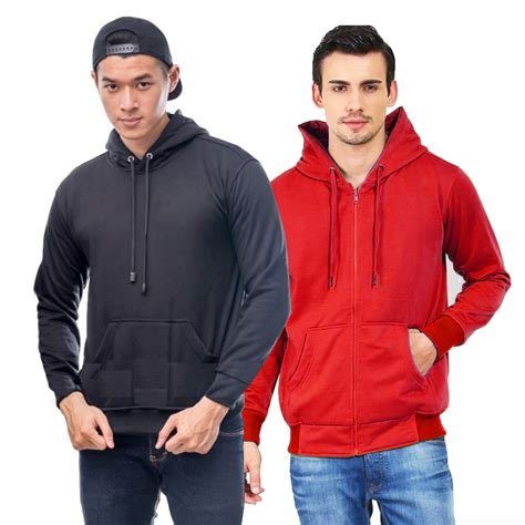 jaket seleting zipper polos murah fleece tebal sweater hoodie jacket unisex pria wanita m l xl