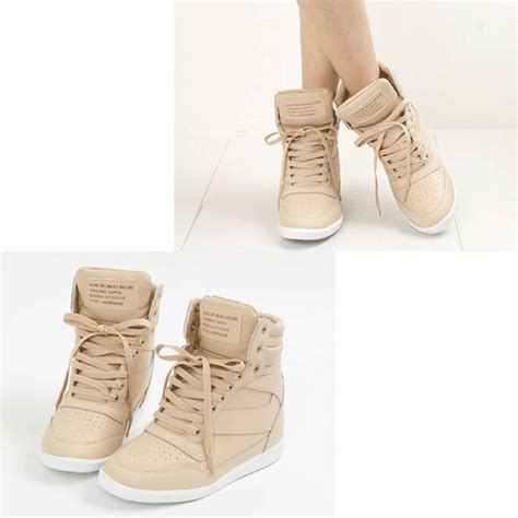 shoes sneakers wedge sneakers beige wedges wedges