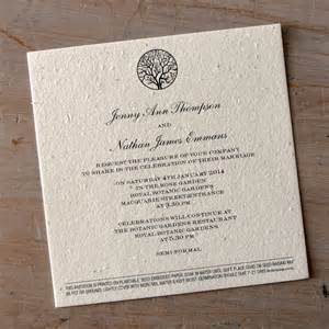 enchanted tree plantable wedding invitations seed paper