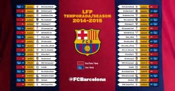 Calendrier F C Barca Liga Le Calendrier 2014 15 Du Bar 231 A Fc Barcelona Clan